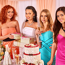 wedding cake knife server set