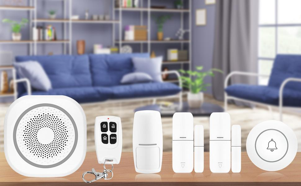Smart security system: Supports 2.4G WiFi, APP control