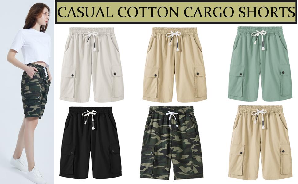 golf athletic short cotton Cargo Shorts running Shorts bermuda shorts for women knee length