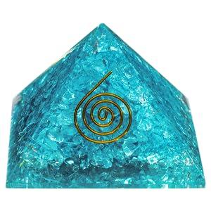 orgone pyramid aquamarine energy healing meditation crystal pyramid