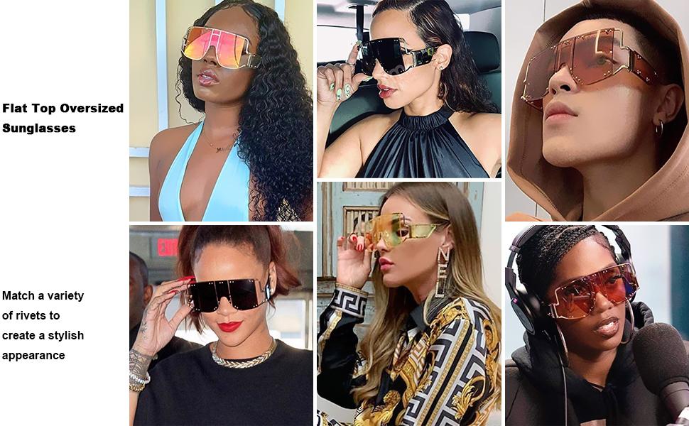 flat top oversized sunglasses