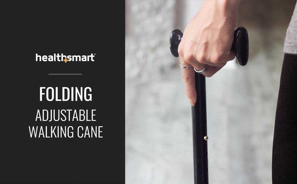 HealthSmart Folding Adjustable Walking Cane