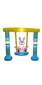 Inflatable Easter Swinging Bunny