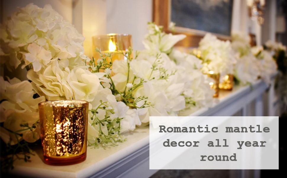 Romantic mantle decor all year round