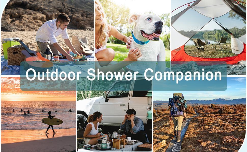 portable shower, camping shower, portable shower for camping, shower bag, camping showers bag, solar