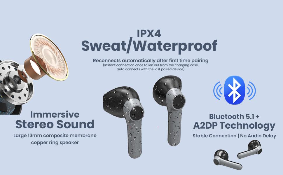 Bluetooth 5.1 Wireless headphones