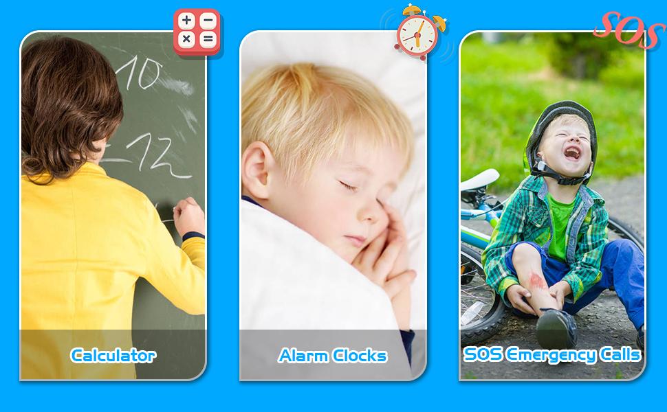 Calculator/Alarm Clocks/SOS ECalculator/Alarm Clocks/SOS Emergency Callsmergency Calls