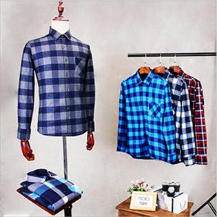 Mens Casual Dress Long Sleeve Buffalo Plaid Slim Fit Flannel Shirt jacket button down check