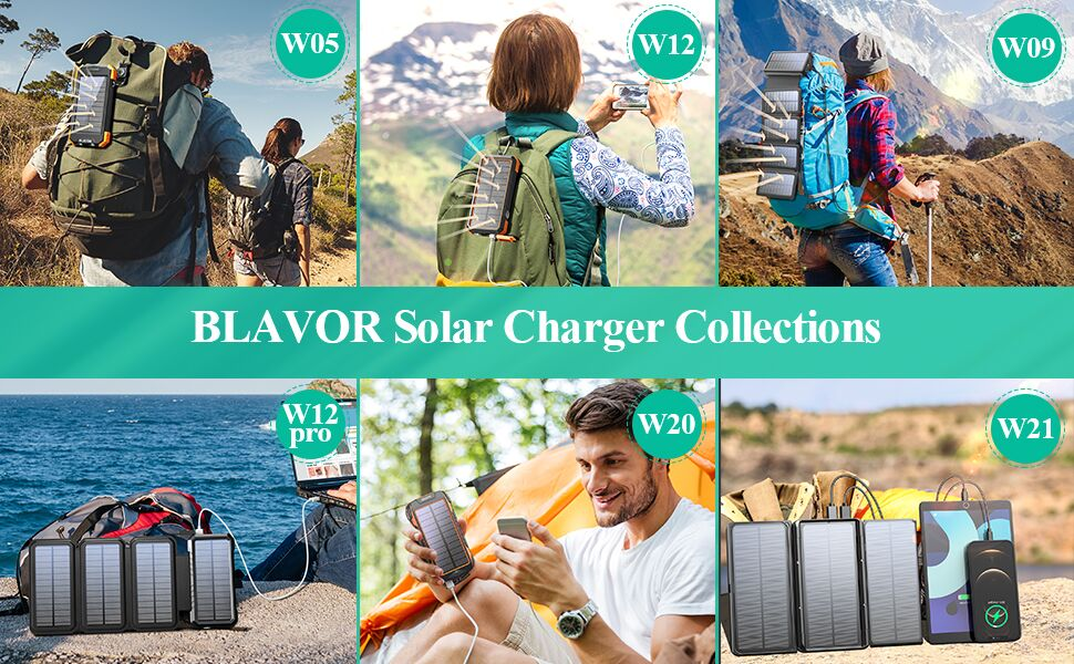 solar charger power bank solar powered phone charger external battery bank backup portable charger