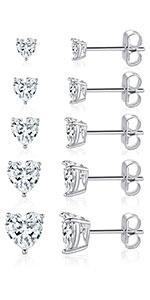 heart earrings,stud earrings,earrings for women,cubic zirconia earrings ,cubic zirconia earrings