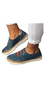 Walking Shoes for Women Slip On Breathe Canvas Sneakers