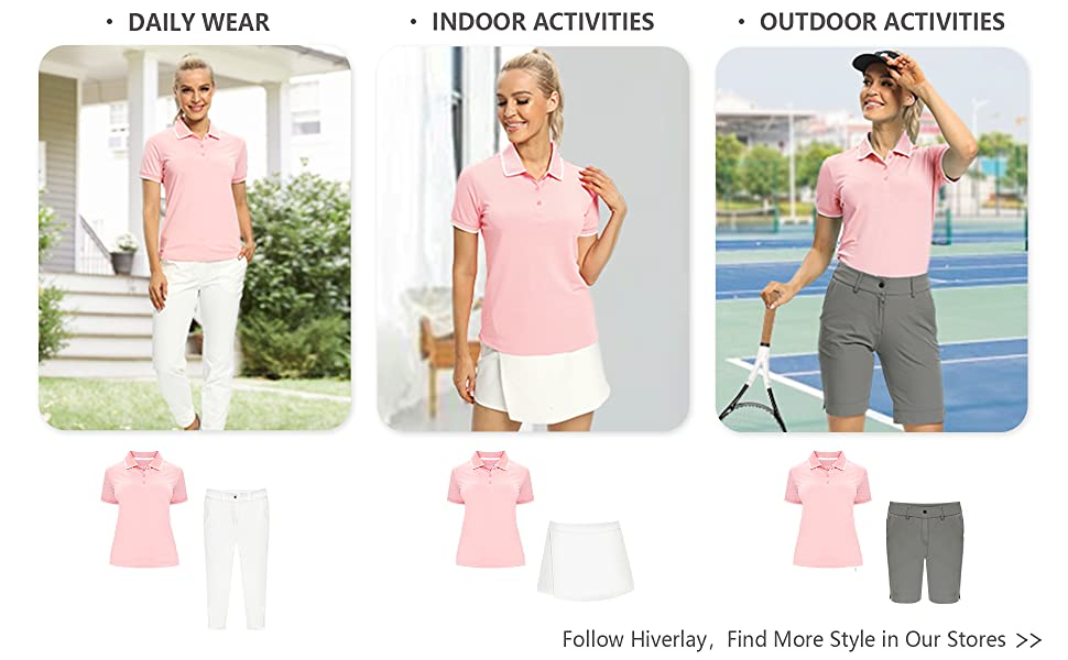 women short sleeve golf polo shirt