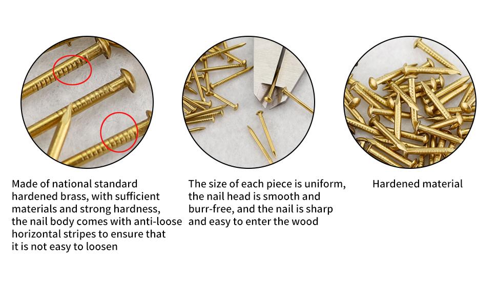 Brass Escutcheon Tacks