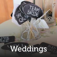 Chalkboard Labels for a wedding.