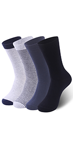 Ceafer Mens Dress Socks Classic Rib Solid Premium Socks