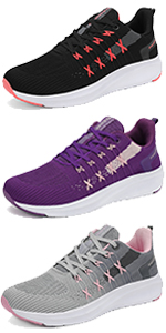 Women Running Shoes Lightweight Walking Sneakers Tennis Gym Athletic Sports Casual Fashion Jogging
