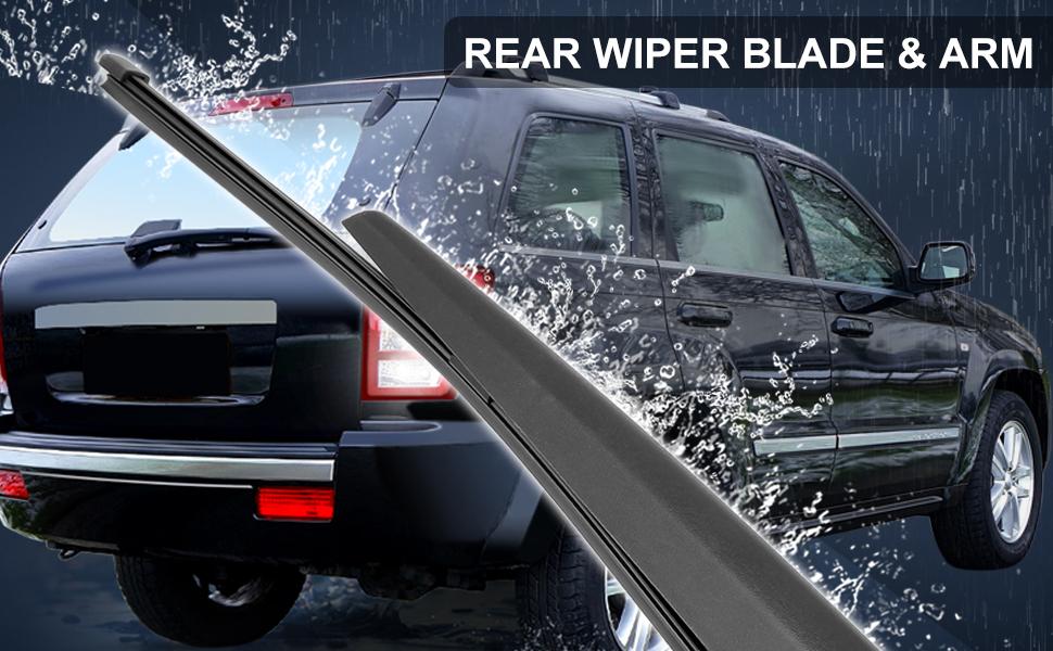 Car Rear Windshield Wiper Blade Arm Set