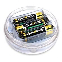 install 3 AA batteries we provided