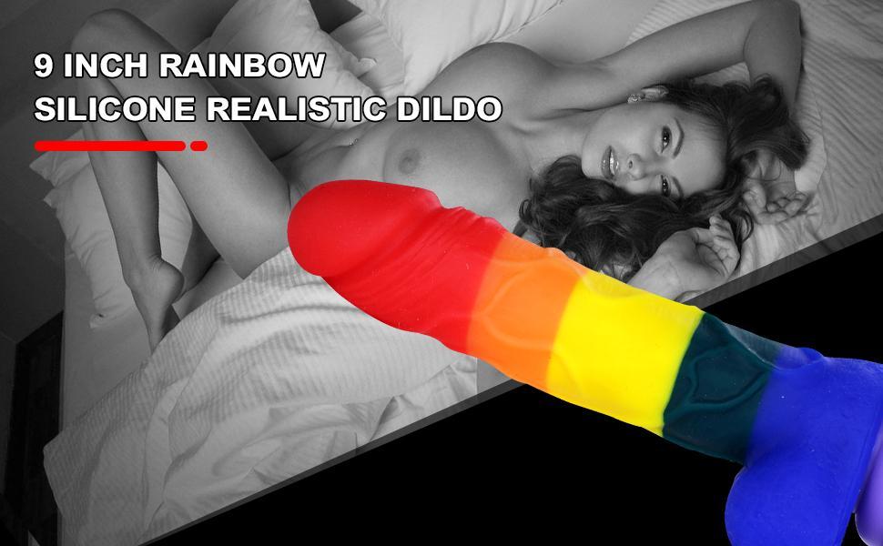 RAINBOW silicone realistic dildo