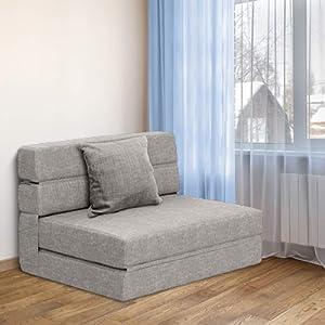 tri fold sofa bed gray