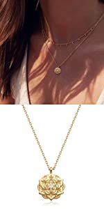 Redbud necklace