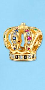 crown charm for bracelets
