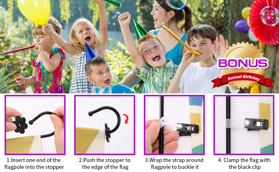 Two accessories as gifts for Birthday and instruction photos on how to use them