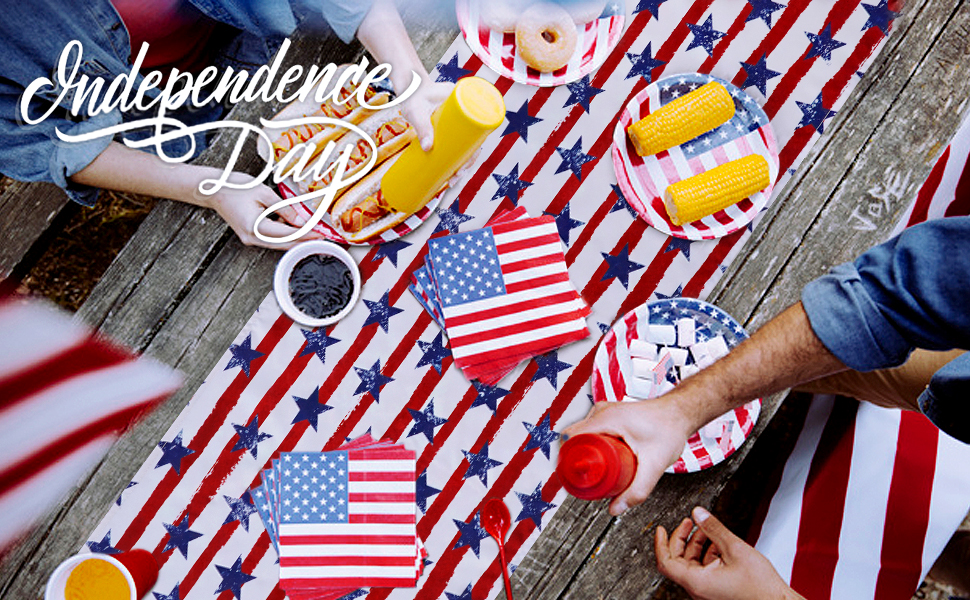 Independence Day Table Runner 4th of July Table Decorations Holiday Linens (2)