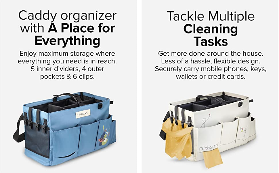 cleaning supply caddy with handle, cleaning basket,  small caddy with handle, cleaner organizer