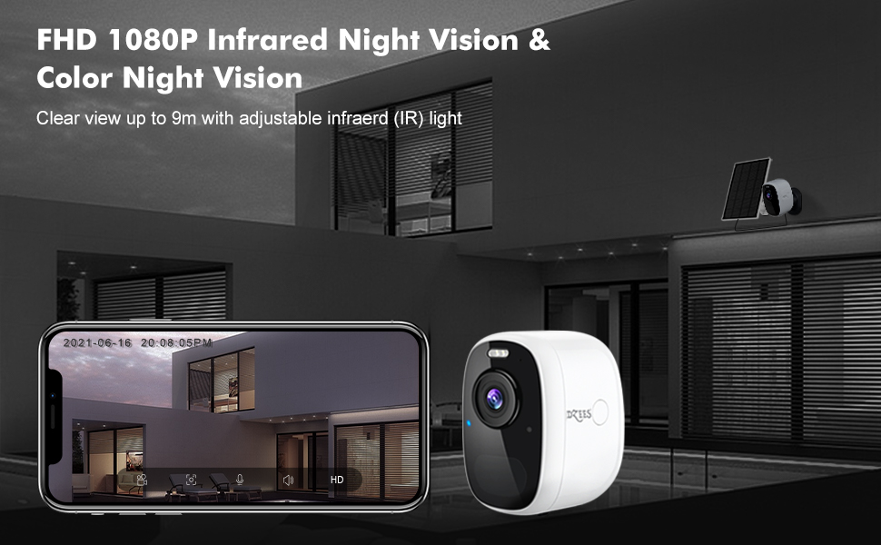1080FHD infrared night vision and color night vision
