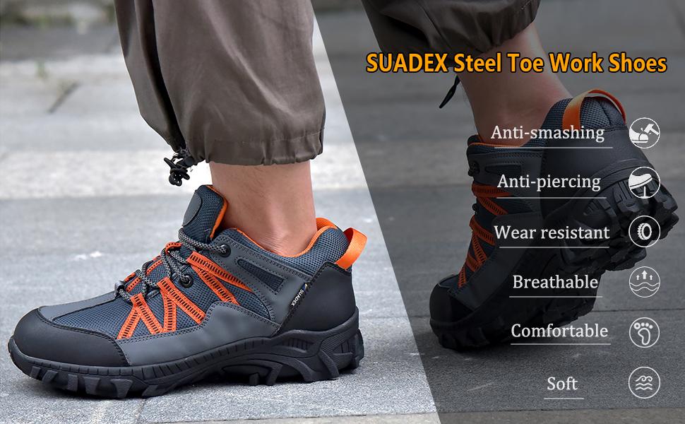Suadex Steel toe work shoes for men women
