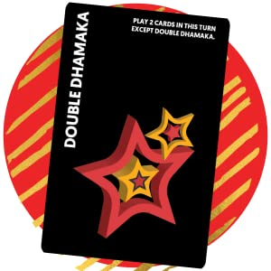 double dhamaka card, chatpate card game, high quality game, gift ideas, food fight, desi street food