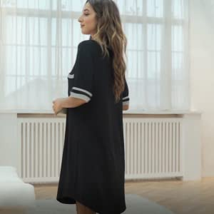 Vlazom Womens Nightgowns Soft Sleep Dress