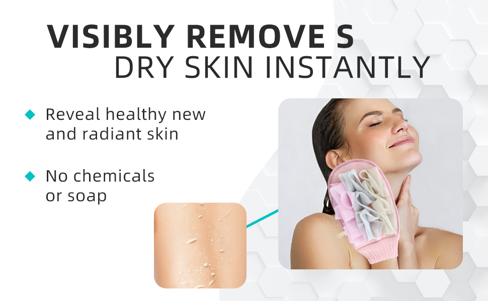visibly removes dry skin instantly
