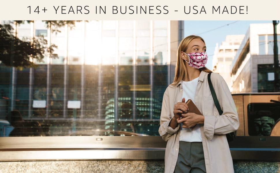 women wearing floral mask