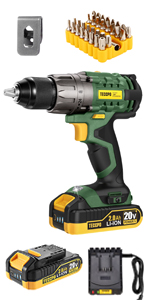 20v Brushed drill, 2 batteries
