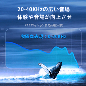 KZ ZEX (1DD+1EST)ハイブリット型HIFIイヤホン