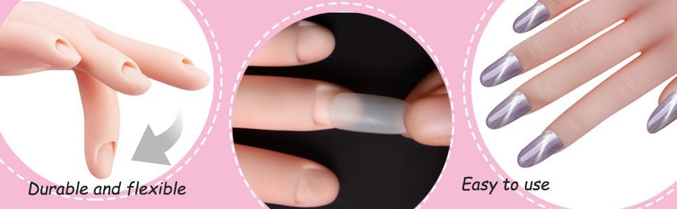 acryl nagel nep handen