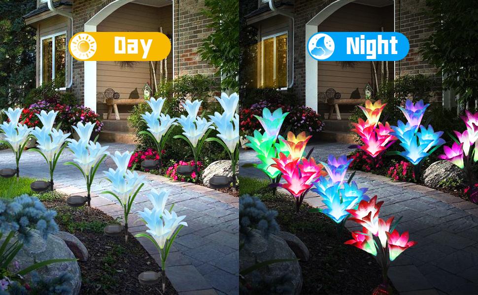 solar garden lights flower solar lights outdoor flower lily lily outdoor light lily lights