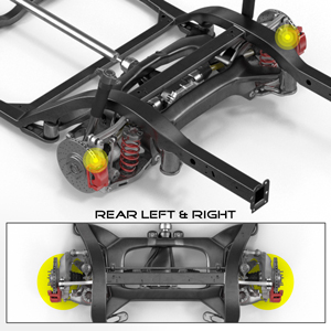 BC Installation Position: Rear Left and Right, Driver and Passenger Side