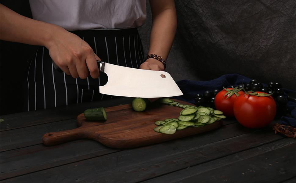 nakiri knife 9CR18MOV steel kitchen knife