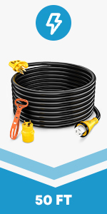 50A Male to 50A RV Power Extension Cord