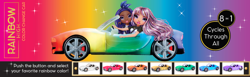 Rainbow High Color Change Car - Cycle through all rainbow colors Ad