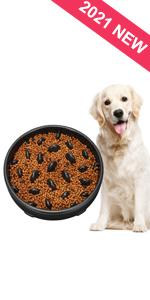 Large Puzzle Dog Food Bowl