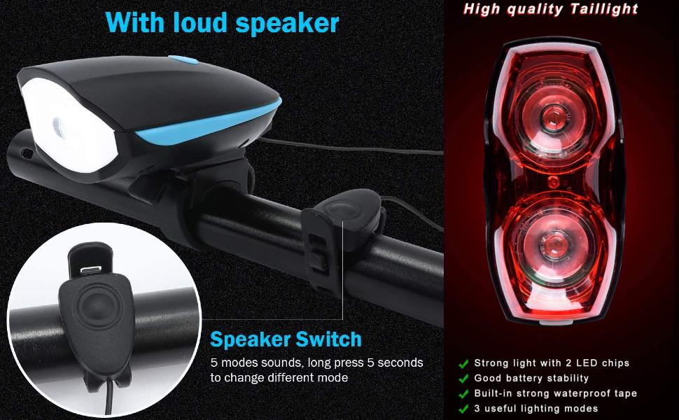 bicycle back light rechargeable