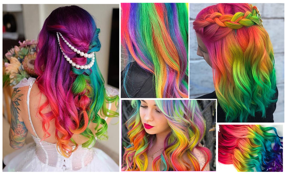 Temporary Hair Color Chalk Comb