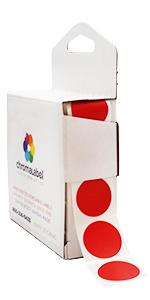 red permanent dot dispenser box