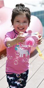 Julysand Girls Rashguard Sets Two Pieces Swimsuits Pink Unicorn  Swimwear Sun Protection Suit