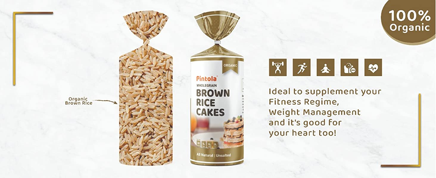 Benefits of Pintola Unsalted Brown Rice cake