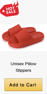 red pillow slippers
